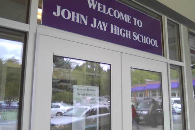 Katonah-Lewisboro schools, such as John Jay High School, were in a lockout on Tuesday morning due to a suspect search in nearby Cortlandt.