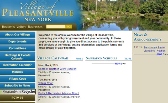 The Pleasantville village website will soon have a new look that the Board of Trustees say will benefit residents.