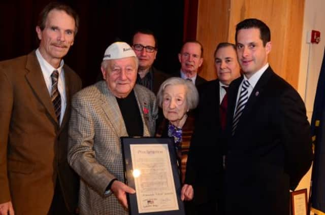 """Sleepy Hollow veteran and Pearl Harbor survivor Armando """"Chick"""" Galella was inducted into the 40th Senate District Veterans' Hall of Fame on Saturday."""