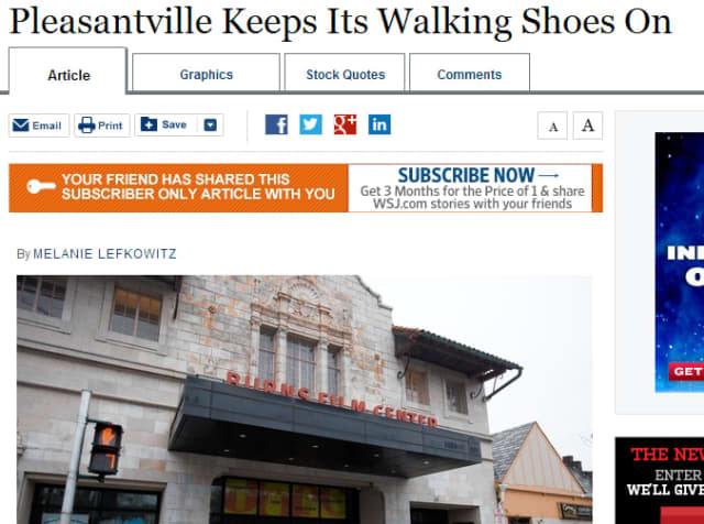 Pleasantville was recently featured in an article in The Wall Street Journal.