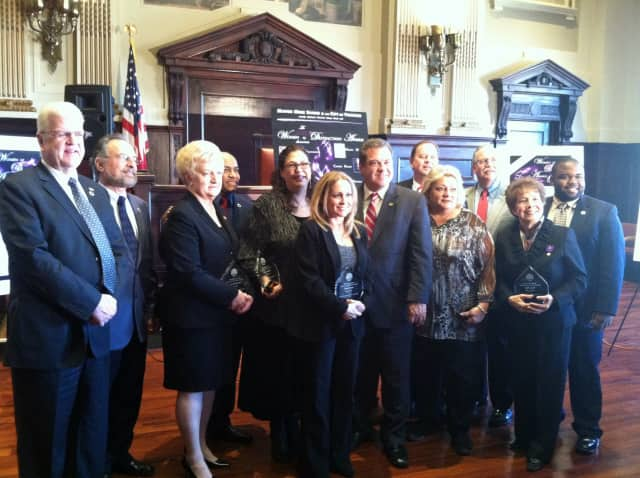 "Five Yonkers women were honored for their charitable and selfless work Tuesday as they were presented with the city's first-ever ""Women of Distinction"" awards inside City Hall."