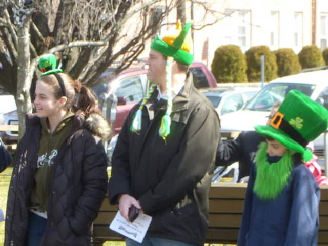 New Canaan's Shattan Family got dressed up for last year's St. Patrick's Day parade.