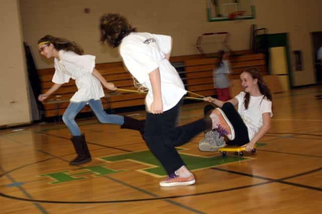 Irvington sixth-graders competed in their very own Olympics Wednesday as part of Ancient Greece Day.
