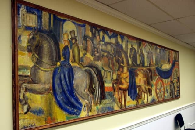 This 1938 mural by Alice Flint now has a new home in Fairfield's Sullivan Independence Hall.