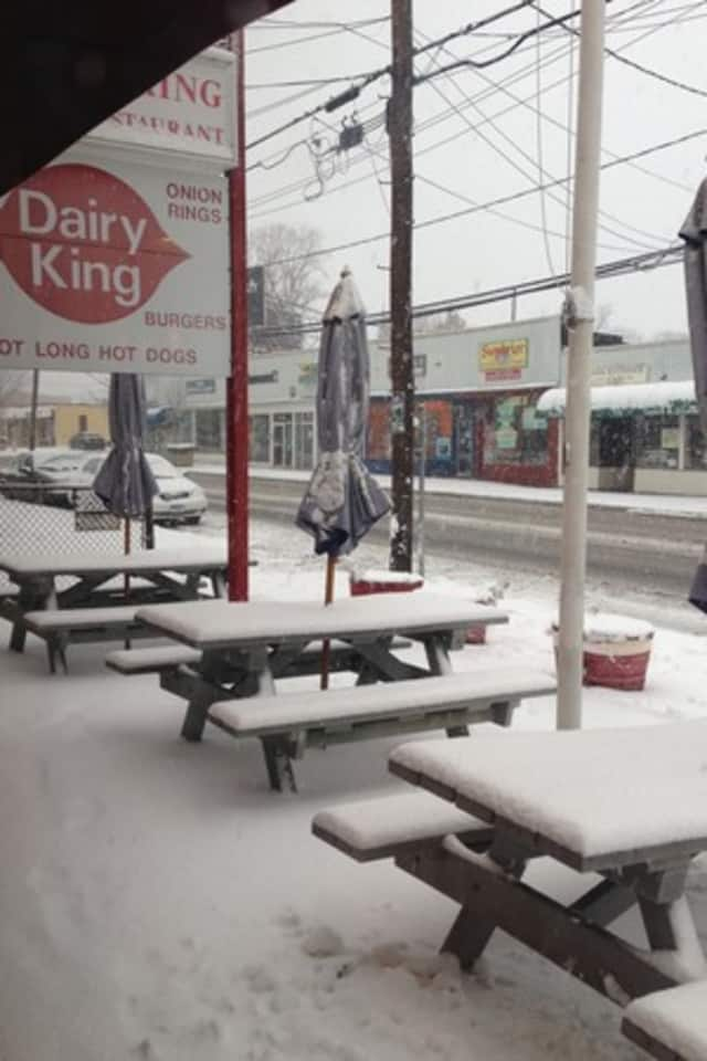 Reader Photo: Dairy King on Main Street in Norwalk during last month's blizzard.