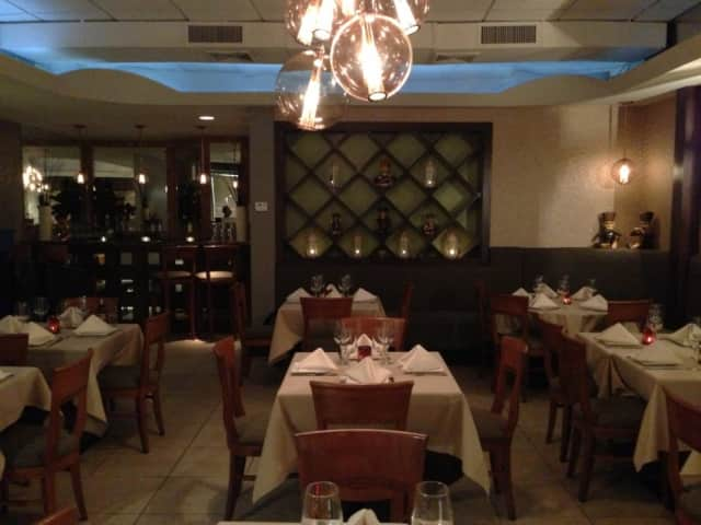Interior of the Coriander Restaurant in Larchmont