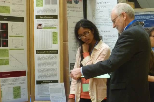 Students from high schools throughout Westchester County compete in the annual Westchester Science and Engineering Fair on Saturday at Sleepy Hollow High School.
