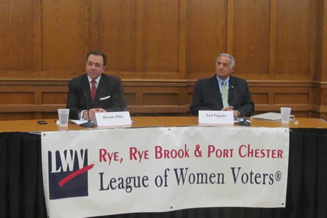 Port Chester Mayor Dennis Pilla (left) is running against challenger Neil Pagano in this year's election.