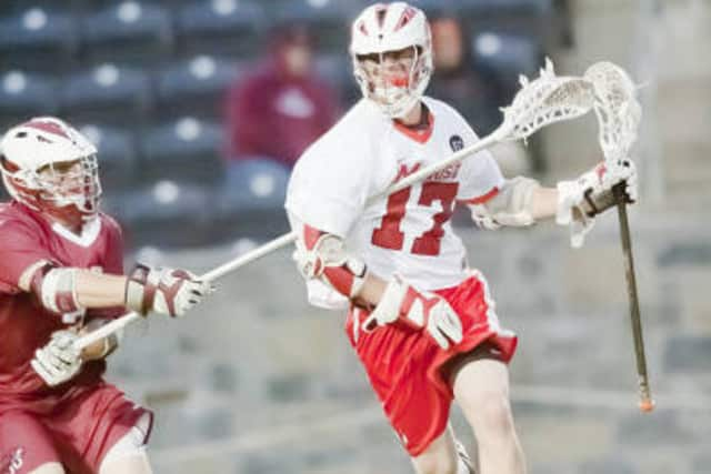Jack Doherty of Yorktown Heights and Marist College scored the game-winning goal for the Red Foxes in a game last week against Towson.