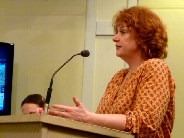 Michelle Orr voices her support for the New Canaan Public School spending plan for the upcoming year.