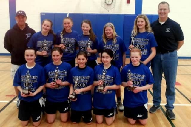 The Wilton seventh-grade girls basketball team won its division of the Fairfield County Basketball League playoffs last weekend.