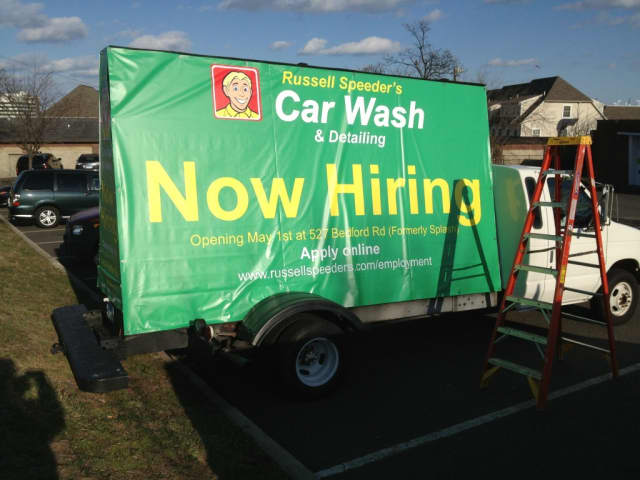 Russell Speeder's Car Wash is opening May 1 in Bedford Hills and is taking applications.
