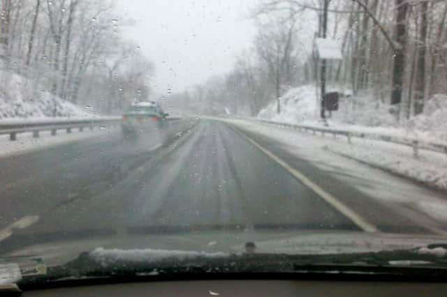 The Saw Mill River Parkway and other local road conditions are predicted to be slippery and worsen overnight.