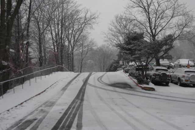 New Castle town officials are telling residents to give themselves extra time to commute on Tuesday morning due to slick and slushy roads.