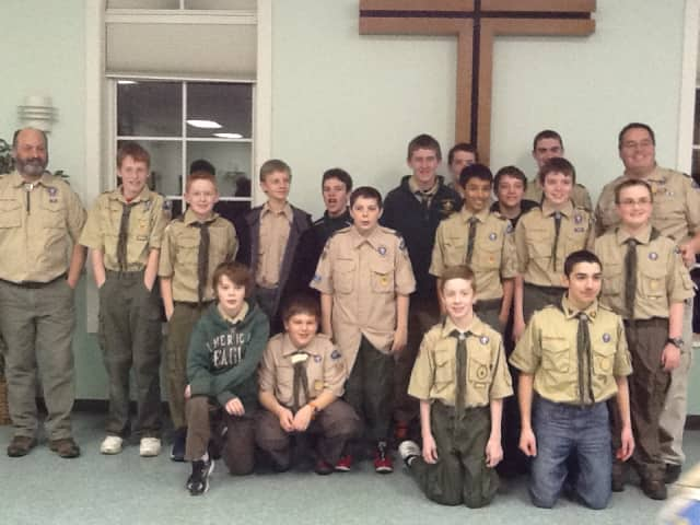 More than 15 Yorktown Heights scouts shaved their heads Monday night to raise money for childhood cancer research.