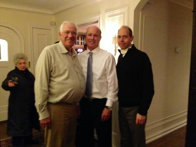 From left to right: former Town Supervisor Joe Solimine Sr., Tim Cassidy, and former Mayor Arthur Scinta.