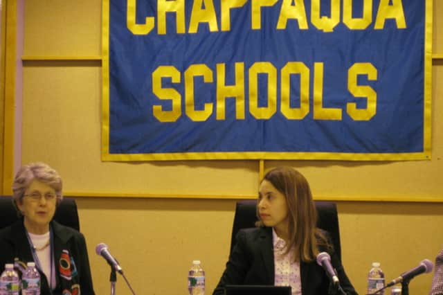 Chappaqua Schools Superintendent Lyn McKay and Board of Education President Victoria Tipp were both pleased with the 2013-14 budget proposal.