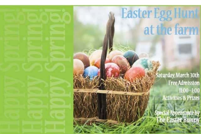 North Salem's Harvest Moon Farm & Orchard will have an easter egg hunt on Saturday from 11 a.m. to 1 p.m.