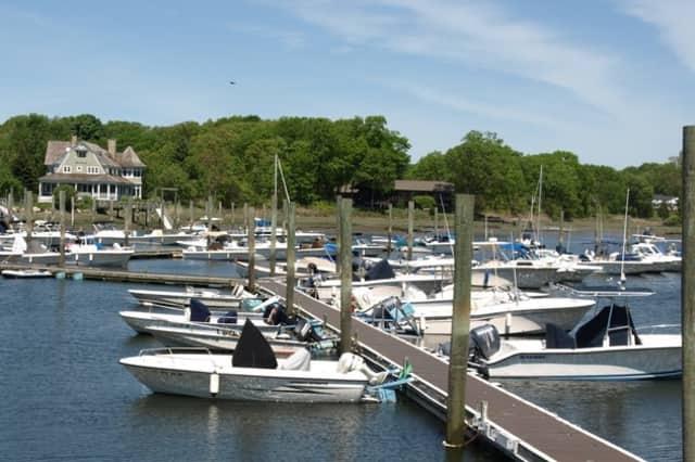 Boats in Darien Harbor