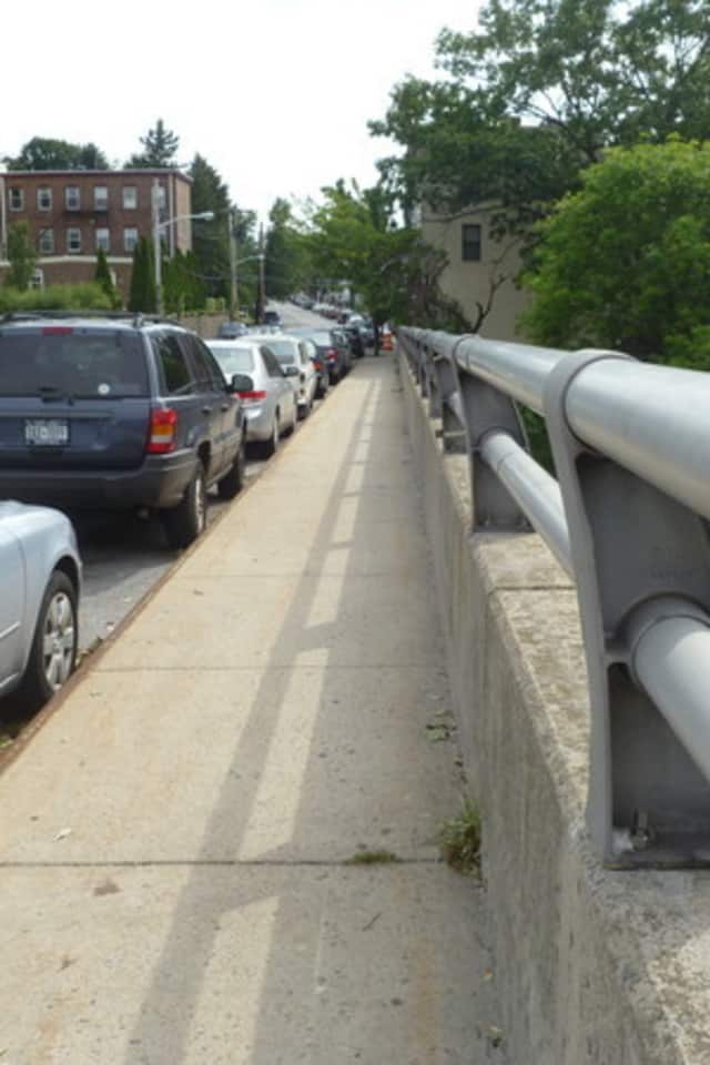Repairs on the walkway on the Warburton Avenue Bridge in Hastings have been delayed due to a lack of funding.