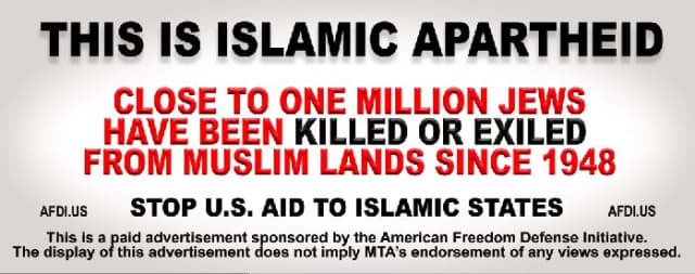 More Anti-Islam ads may go up at Metro-North stations.
