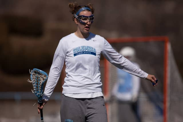 Wilton's Kacie Johnson set the record for most goals scored in a career in a recent game at Columbia University.