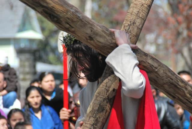 The Church of the Assumption will re-enact the Stations of the Cross Friday at 1 p.m. in Peekskill's Depew Park.
