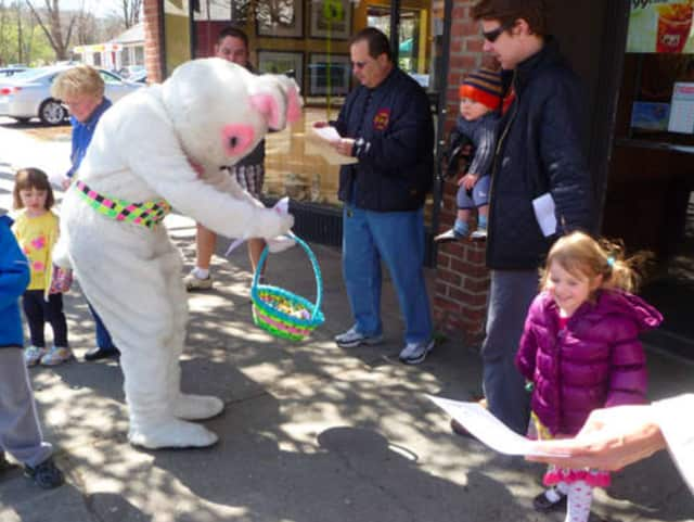 The Chappaqua Fire Department Bunny will be walking around downtown Chappaqua for handshakes and photos Saturday from 12:30 p.m. to 1:30 p.m.