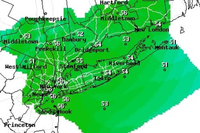 Sunny skies and slight winds will kick off the weekend, but a pair of fronts will bring rain and colder temperatures to the area on Sunday, according to the National Weather Service.