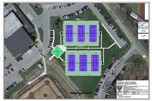 Six new tennis courts are planned for Lewisboro's John Jay High School.