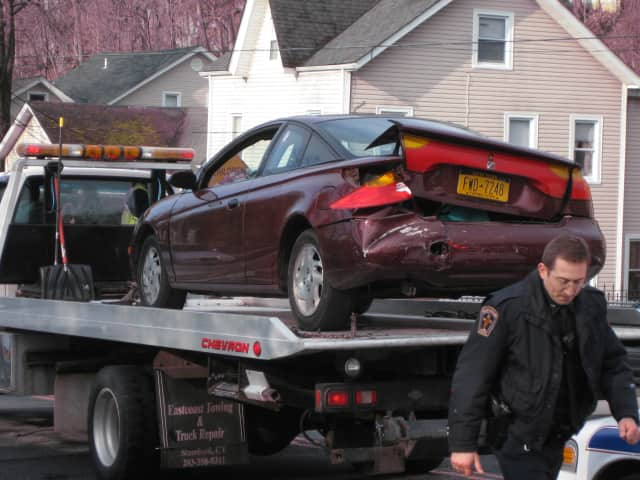 One passenger of a three car accident received minor injuries and was sent to the Northern Westchester Hospital, police said.