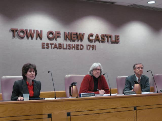 The New Castle Town Board was excited to learn the town will maintain its AAA bond rating.