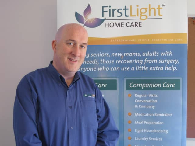 Vincent McMahon brought the first FirstLight HomeCare to New York last fall with an office in Mount Kisco.