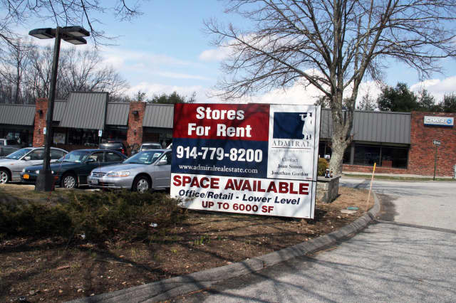 Lewisboro's Cross River business district has a number of vacant retail spaces.