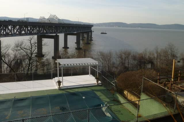 Tarrytown wants to sell a piece of underwater land just north of the existing Tappan Zee Bridge, as seen from the Quay Condominiums in this file photo.