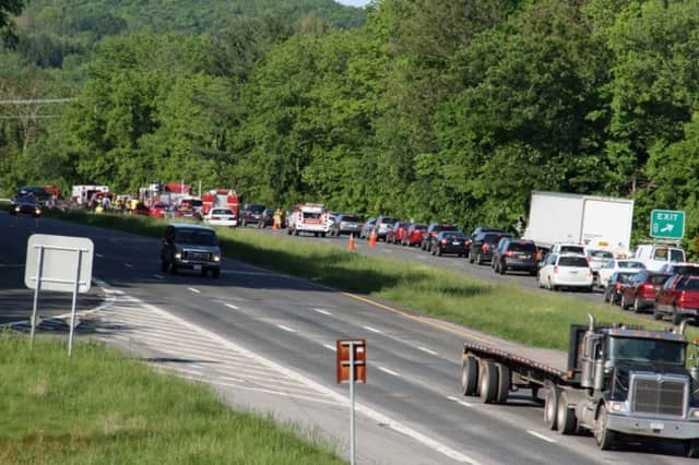 State Police in Somers held a Speed Enforcement Initiative on I-684 Saturday and issued more than 70 speeding tickets to prevent accidents like this one that occured on I-684 in North Salem in May.