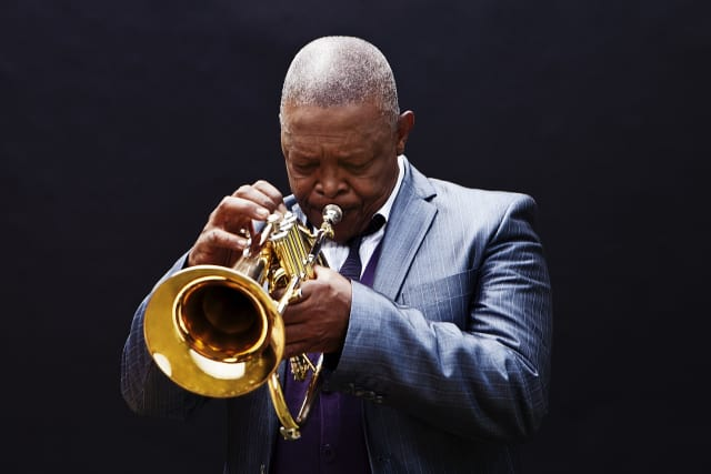 """Hugh Masekela, known from his hit """"Grazing in the Grass,"""" will perform in Tarrytown on April 17 at 8 p.m. in a Jazz Forum Arts-sponsored event."""