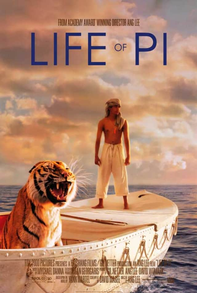 "The Dobbs Ferry Library will screen ""Life of Pi"" on Saturday at 2:30 p.m."