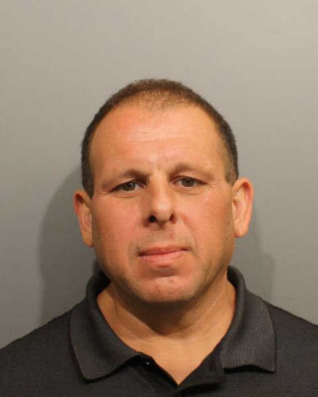 San Diego resident Frank Pellicci is facing charges in Wilton for allegedly threatening and harassing his ex-wife via text message.