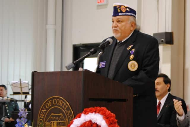 William Nazario, a Vietnam veteran and Purple Heart recipient, is one of the people who helped get Cortlandt named the first Purple Heart Town in New York.