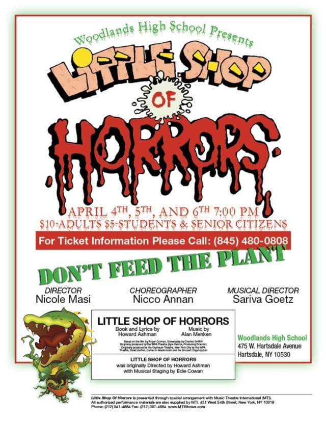 """Woodlands High School Drama Club is performing """"Little Shop of Horrors"""" through Saturday."""