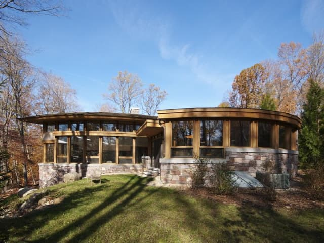 The home at 22 Father Peter's Lane in New Canaan will be open from 1 to 3 p.m. on Sunday.
