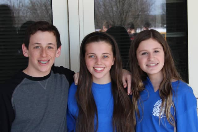 Blind Brook students Adam Hershaft, Amanda Luke and Chloe Greenwald will present at an Earth Day event at Grand Central Station on April 22.