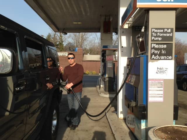 Joseph Cassese gets gas from the Gulf station in Pelham Manor regularly.