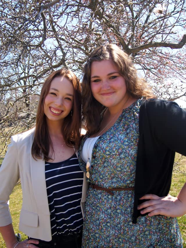 Pamela Brigleb (left) and Jessica Fleischman are finalists in the Young Naturalists Competition sponsored by the Museum of Natural History.