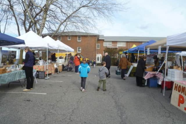 The outdoor market is back in Hastings-on-Hudson this weekend at the Municipal Building parking area.