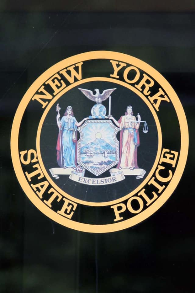 New York State Police charged Theresa Iacovino of Pound Ridge with possession of a weapon and unlawful possession of marijuana.