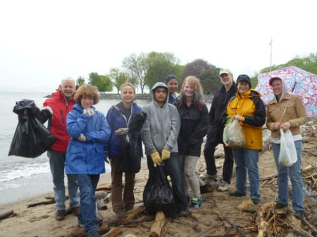 Dobbs Ferry residents at last year's Community Clean-up Day.