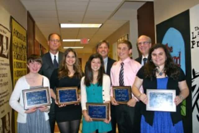 The winners of the Pelham Civic Association's scholarships lasat year are Sarah Rubock, Addison Nakatani, Ann Dwyer, Patrick Schepis and Sarah DeLeno.