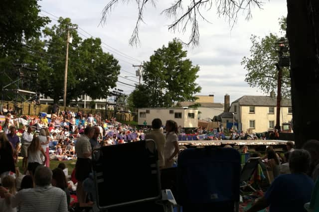 """Shakespeare on the Sound"" will return to Rowayton this summer with ""Hamlet."" Pictured is the audience for the 2011 production of ""Much Ado About Nothing."""